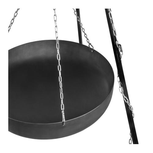 Wok am Dreibein, 180 cm Höhe, aus Rohstahl-2