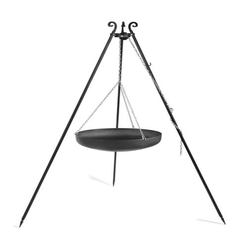 Wok am Dreibein, 180 cm Höhe, aus Rohstahl